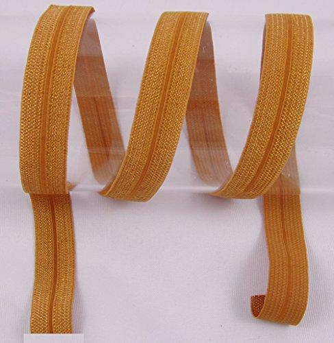 Schrägband elastisch, Falzband, 20/10mm, Kantenband, Gummi, nähen, Meterware, 1 Meter (Hellbraun)