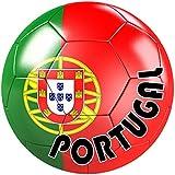 Akachafactory autocolant Sticker Equipe Voiture Moto Football Drapeau Ballon Foot Portugal