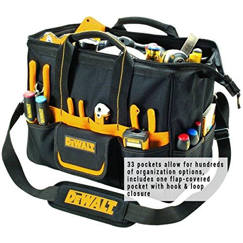 DEWALT DG5543 16 in. 33 Pocket Tool Bag, Black
