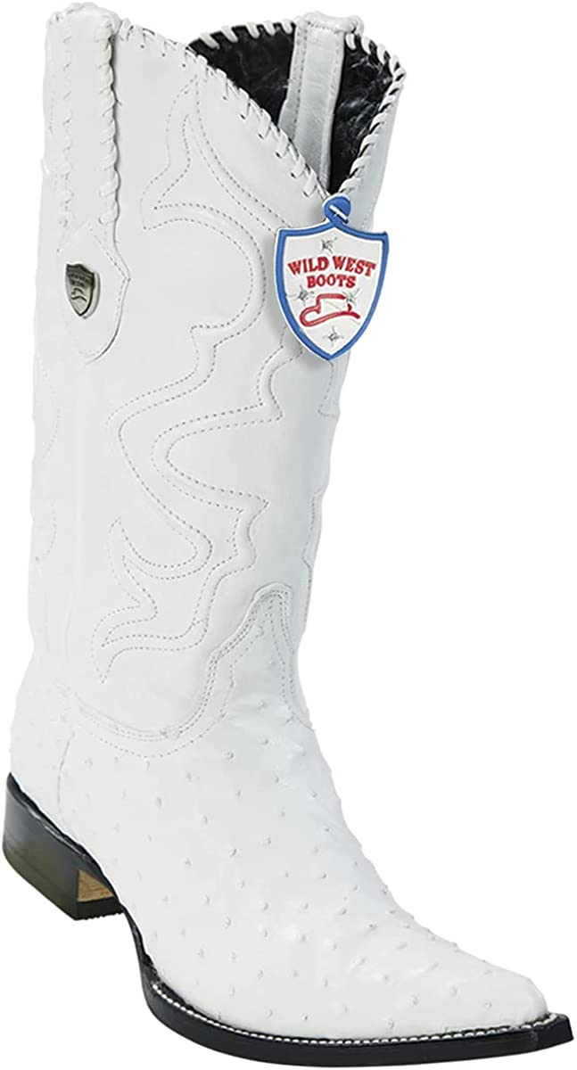 Sale special price Wild Large special price !! West Boots Mens #2950328 3X Toe Color Style White Ostrich