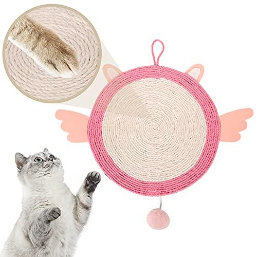 Dihope Kratzbrett Kratzpappe für Katzen Kratzmatte Katze Kratzmöbel mit Katzenminze Katzenspielzeug Beschaftigung Sisal Scratching Pad aufgehängt