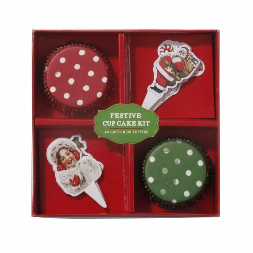 Jolly Holly - Cake Cases and Toppers - 1 Pack