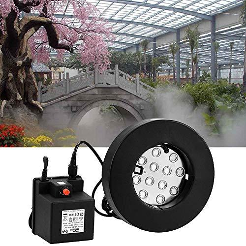 Popsport Mist Maker Fogger 12 Head Ultrasonic Mist Humidifier 110V Mist Maker Fogger Humidifier with Transformer for Gardening and Pond Use (12 Head Mist Maker)