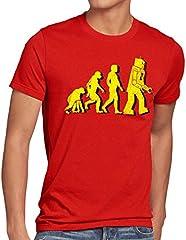 style3 Robot Evolución Camiseta Color Rojo para Hombre