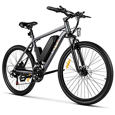 VIVI S2 Electric Bike Electric Mountain Bike E-Bike, 26'' Electric Bicycle 20Mph with 36V 8Ah Removable Lithium-Ion Battery, 250W Motor and Shinmano Professional Rear 21 Speed Gears, Gray