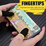 WOXOT Pubg Anti-Slip Thumb Sleeve, Slip-Proof Sweat-Proof Professional Touch Screen Thumbs Finger Sleeve