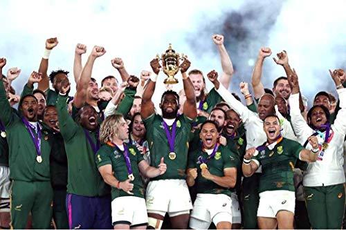 Andy Evans Foto South Africa Springboks Rugby Union Winners 2019 Japan Fotodruck, Fujicolor Crystal Archivpapier, 12