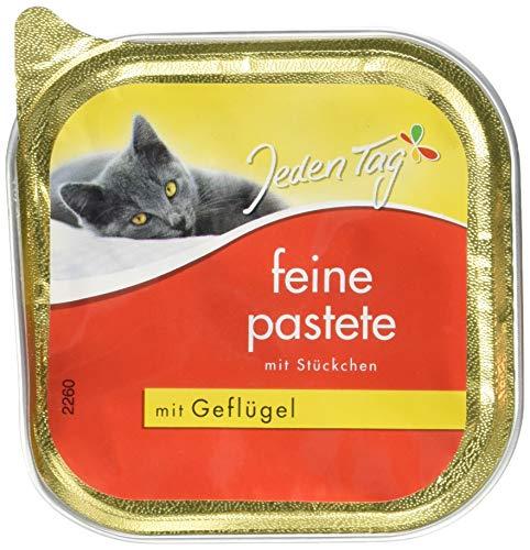 Jeden Tag Katze Feine Pastete Geflüg, 16er Pack (16 x 100 g)