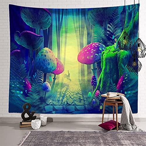 KHKJ Tapiz de Mandala de Hongos, cabecero de Pared, Colcha de Arte, Tapiz de Dormitorio para Sala de Estar, Dormitorio, decoración del hogar A10, 200x150cm