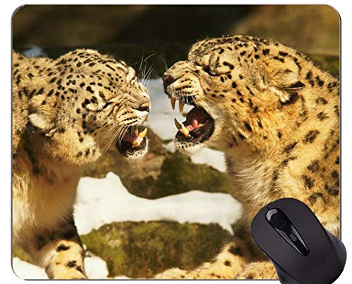Gaming Mouse Pad,Snow Leopards Cat Family Leopard Mouse Pads