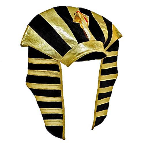 Star Power Gold Lamé Egyptian Pharaoh King TUT Costume Headdress