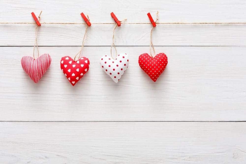 Zhy Daniu Valentine s Day Background Studio Props Wallpaper Photography Vinyl Backdrops Love Heart 7x5ft qr128