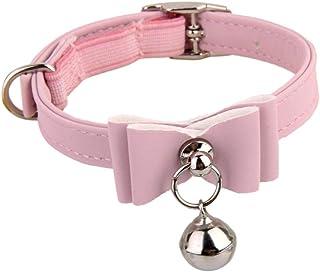 Newlly Adjustable Pet Kitten Cat Safety Collar Bell Buckle Neck (Pink)