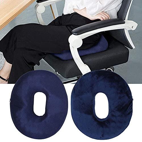 Cojín de Asiento de Donut, cojín de Silla Alfombrilla de Tratamiento para el Alivio del Dolor Cojín de Tope Anti hemorroides para Silla de Oficina en el hogar o Viajes al Aire(Rejilla Transpirable)