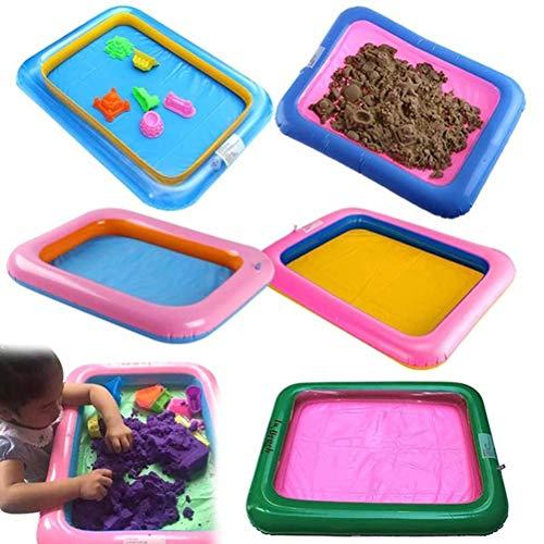 Egosy Inflatable Castle Sand Box Indoor-Spaß-Spiel-Spielzeug Aufblasbarer Mini Sandkasten-Behälter Sandboxen Für Jungen und Mädchen