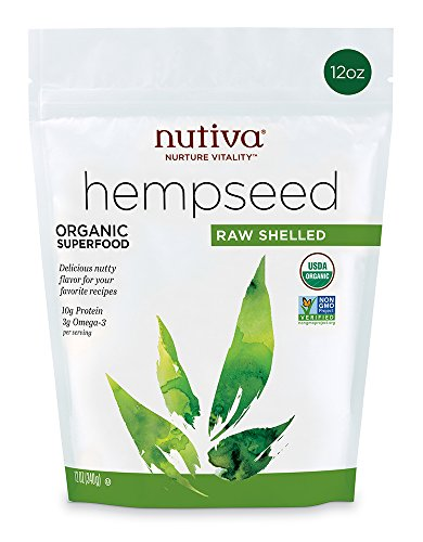 Nutiva Organic, Raw, Shelled Hempseed , 12-ounce
