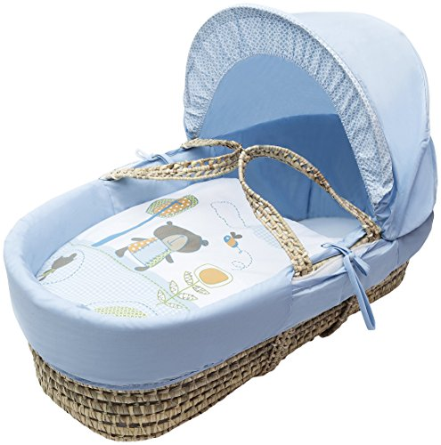 Kinder Valley Tiny Ted Moses Basket_Blue
