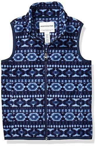 Amazon Essentials Polar Vest fleece-outerwear-vests, Azul (Blue Geo), Large