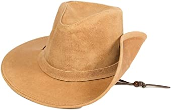 Minnetonka Western Hat Adult Aussie Durable Ruff Leather Tan 9541