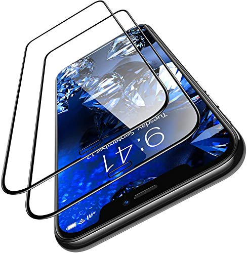 OCTRIX iPhone Diamonds Hard designed for apple iPhone 11 screen protector iPhone XR Screen Protector [10x military grade shockproof][10s easy installation][eye protection]