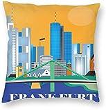 BONRI Stad Gebouw Poster Frankfurt Duitsland Reiskaart