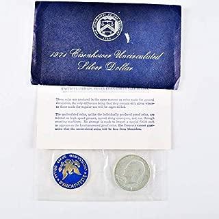 1971 S Blue Eisenhower Silver Dollar $1 Uncirculated US Mint