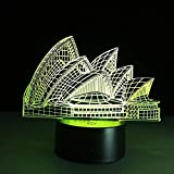 Opera 3D night light creativo colorido lámpara de mesa Novedad Luminaria De Mesa luces 3D Powerbank Led Usb 3D Lámpara de mesa