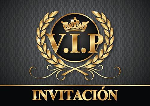 """Edition Colibri 10 Invitaciones en español """"VIP"""": Juego de 10 Invitaciones para el cumpleaños Infantil / a un V.I.P. Fiesta (10718 ES)"""