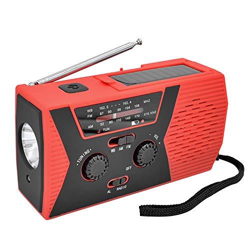 Radio Notfall-Solarradio 4000MAH Tragbares Handgekurbeltes Notfall Solar Handkurbel Dynamo Wetter Radio Taschenlampe Ladegerät (mit Strom)