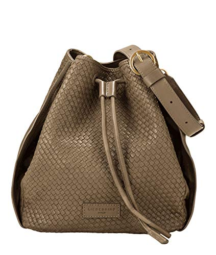 Liebeskind Berlin Damen Santa Fe Bucket Bag Umhängetasche, Dusky olive-7727, 11x28x30 cm