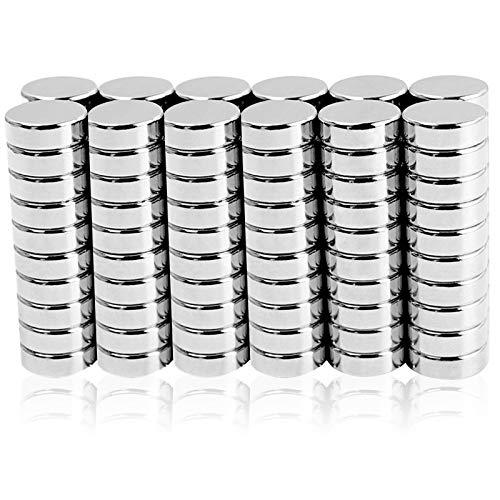 Sunshine smile Neodym Magnete 120 Stück, Runde Kleine Magnets,Permanent Magneten, Extra Stark Neodym-Magnet,Mini-Magnetscheibe,5 Größen Magnettafel,für Kühlschrank,Whiteboard,Pinnwand