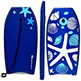 Goplus Super Bodyboard Body Board EPS Core, IXPE Deck, HDPE Slick Bottom