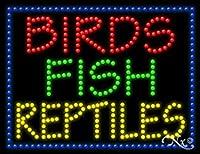 20x 26x 1インチBirds Fish Reptilesアニメーション点滅LEDウィンドウサイン