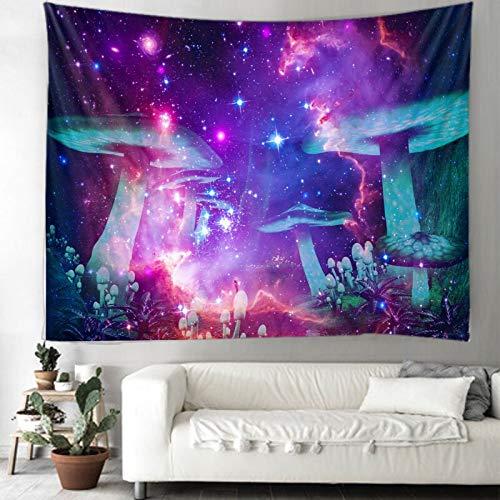 Tapiz de hongos colgante de pared psicodélico decoración bohemia digital impreso tapiz tapiz hippie colgante de pared A50 150x200cm