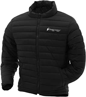 Co-Pilot Insulated Puff Jacket, Water Resistant, Black & Reversible Camo, Compatible w/Frogg Toggs Pilot II Series Jackets