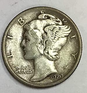 1920 P Mercury Dime 90% Silver 10c VF
