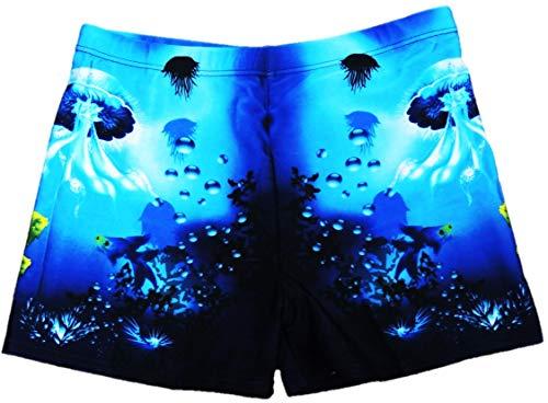VanessasShop Jungen eng anliegende Badeshorts im sportlich bunten Design in den Größen 152-188 (164-170)