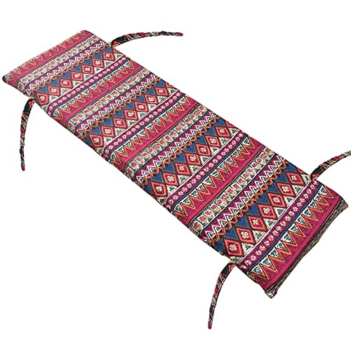 Cojín para silla de jardín, cojín de banco al aire libre, con lazos antideslizantes, funda desmontable, 4 cm de grosor, asiento interior, silla de jardín, adecuado para interiores y exteriores