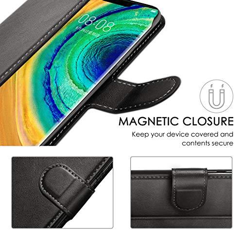 ykooe Handyhülle für Huawei Mate 30 Pro Hülle, Schwarz PU Leder Schutzhülle für Huawei Mate 30 Pro Flip Case Tasche - 6