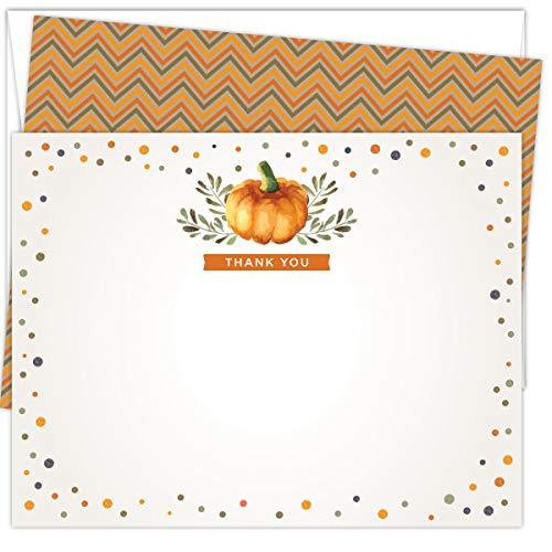 Koko Paper Co - Tarjetas de agradecimiento, 25 tarjetas de notas y sobres, impresas en cartulina pesada
