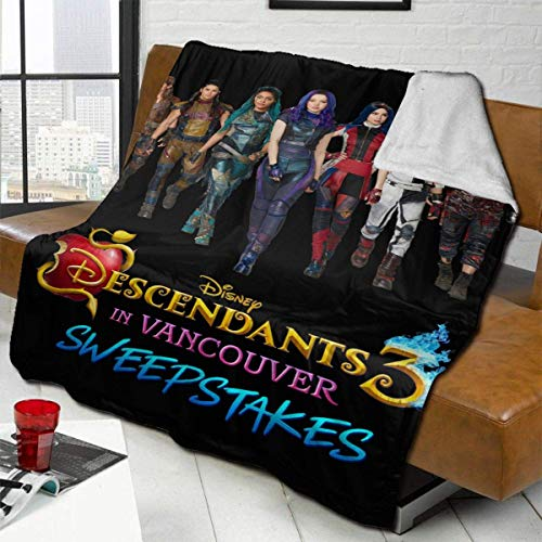 Lsjuee Fleece Blanket Descendants 3 Soft and Warm Throw Blanket Ultra-Soft Blanket Plush Bed Couch 80'x60'