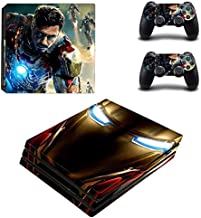 AMALA NAIDU PS4 Pro Skin and DualShock 4 Skin - Marvel - PlayStation 4 Pro Vinyl Sticker for Console and Controller Skin