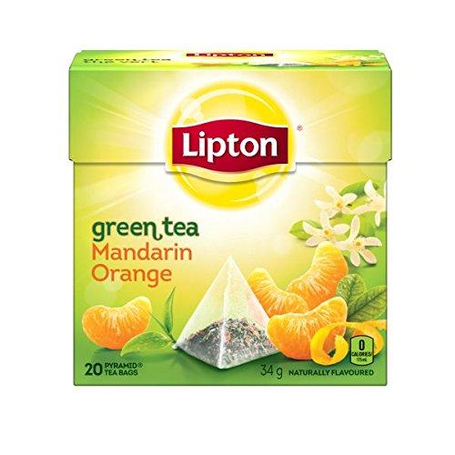 Lipton Green Tea Mandarin Orange Pyramid Tea Bags 20 Count