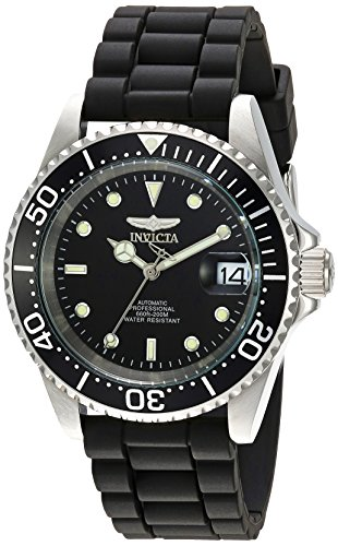Invicta Men's Pro Diver 40mm Stainless Steel and Silicone Automatic Watch, Black (Model: 23678)