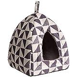 Hollypet Auto-réchauffement 2-in-1 Tente de lit de Chat Chat Confortable Triangle...