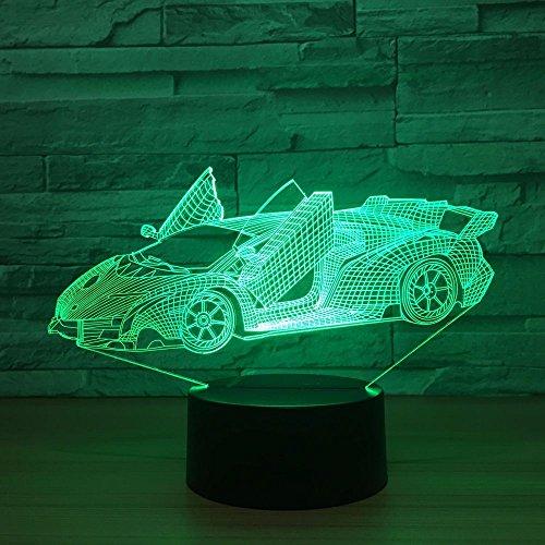 Acryl 3D Lampe 7 Farbwechsel Kleine Nachtlicht Baby Farbe Leuchtet Led Usb Schreibtischlampe Atmosphäre Nacht Dekor Lampe