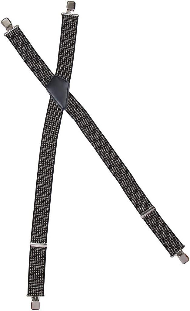 LoveinDIY Men's X Back Button Suspenders Heavy Duty Adjustable Elastic