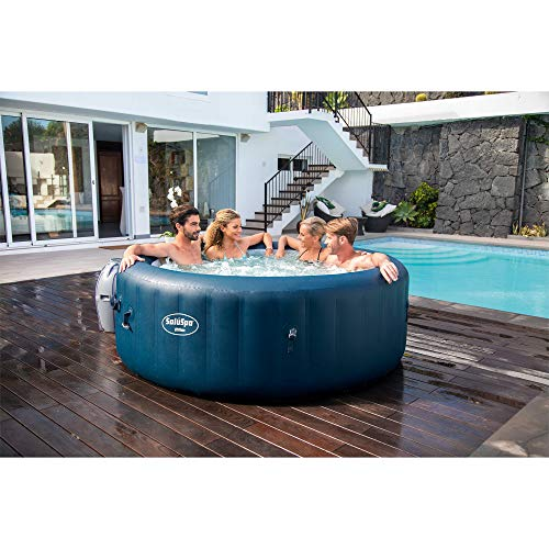 Bestway 54185E SaluSpa Milan Airjet Plus Portable Round Inflatable 6 Person Hot Tub Spa with Cover