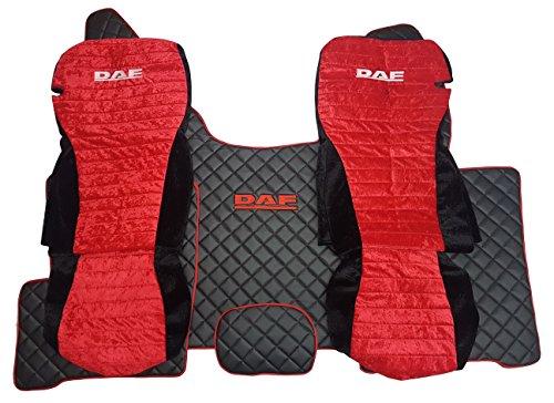 Juego de fundas de asiento y alfombrillas para el suelo izquierdo y el volante a la izquierda, protector de pantalla, alfombra negra y roja, accesorio decorativo