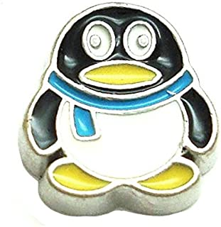 Cherityne Boy Penguin with Blue Scarf Floating Charm for Locket Pendants